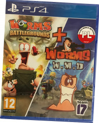 Worms Battlegrounds ANG + Worms WMD PL (PS4)